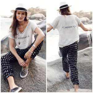 Madewell Gray Comme Ci Comme Ca Top T-shirt M Tee